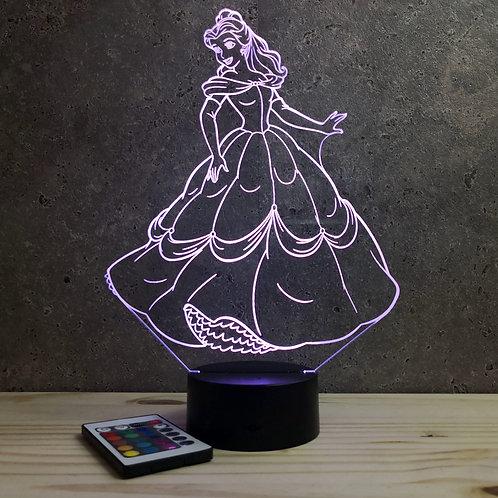 Lampe Belle et la bête personnalisable 16 couleurs led RGB & télécommande