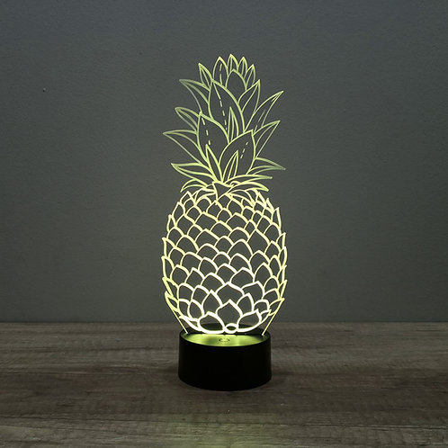 Lampe illusion 3d led Ananas