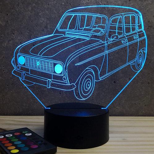 Lampe illusion 3d led Renault 4L