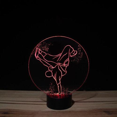 Lampe illusion Hip Hop personnalisable 16 couleurs led RGB & télécommande