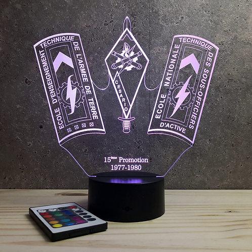 Lampe ENTSOA 15ème promo personnalisable 16 couleurs led RGB & télécommande