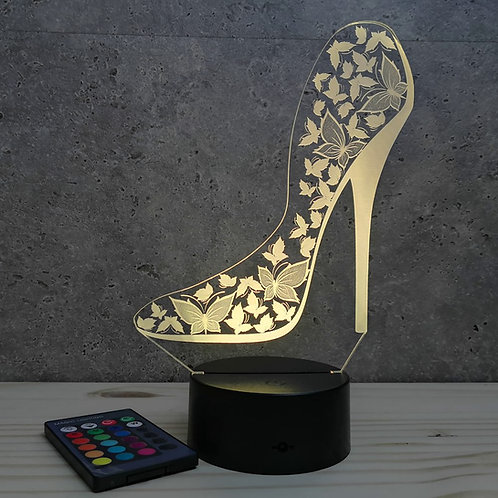 Lampe illusion 3D Talon Haut personnalisable 16 couleurs & Télécommande