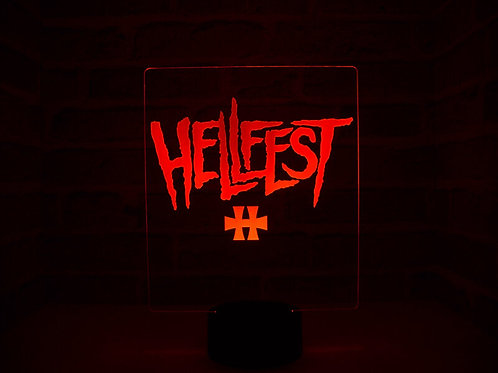 Lampe illusion 3d led HellFest