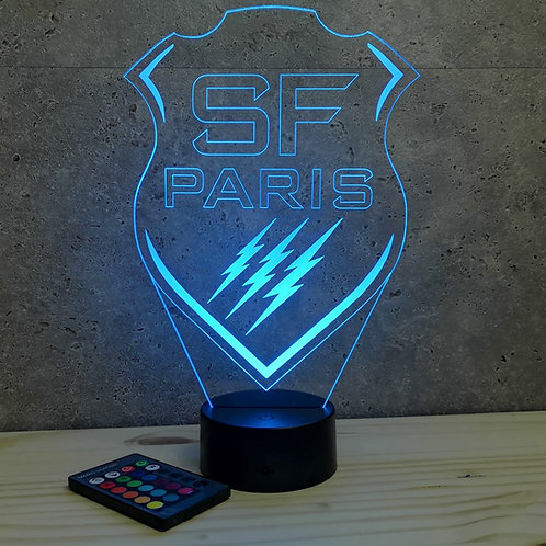 Lampe Rugby Paris personnalisable 16 couleurs led RGB & télécommande