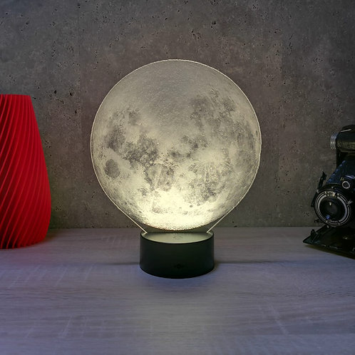 Lampe illusion 3d led Lune