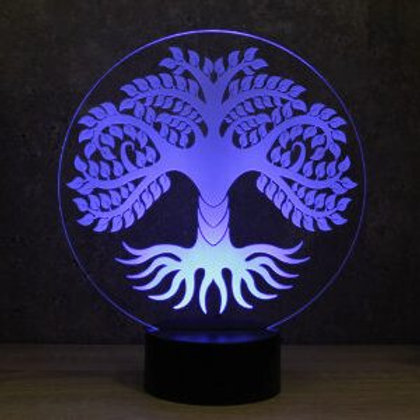 Lampe illusion 3d led Arbre de Vie