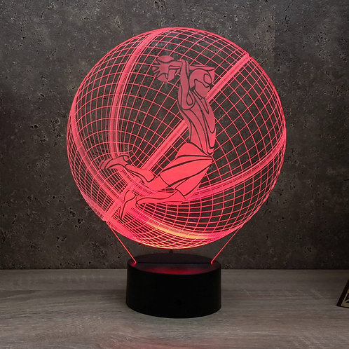 Lampe illusion 3d led Ballon de basket Dunk