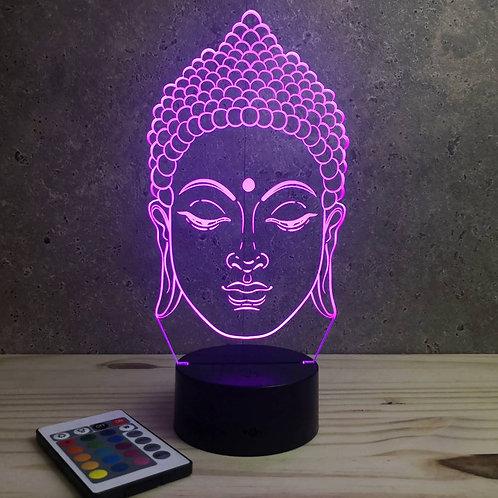 Lampe illusion 3d Tête de Buddha personnalisable 16 couleurs &Télécommande