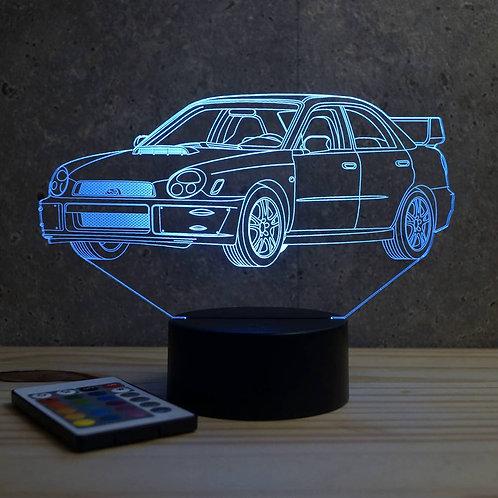 Lampe illusion  Subaru Impreza 2001 personnalisable 16 couleurs & télécommande