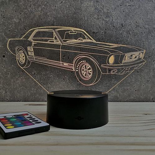 Lampe Ford Mustang GT 67 personnalisable 16 couleurs led RGB & télécommande