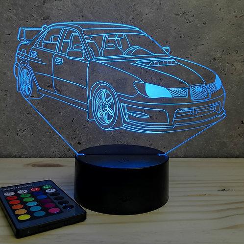 Lampe illusion Subaru Impreza 2016 personnalisable 16 couleurs & télécommande