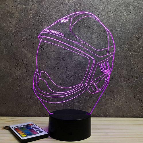 Lampe illusion Casque pompier F1-XF personnalisable 16 couleurs & télécommande