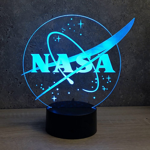 Lampe illusion 3d led Logo Nasa