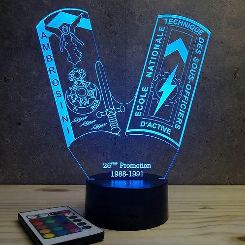 Lampe ENTSOA 26ème promo personnalisable 16 couleurs led RGB & télécommande