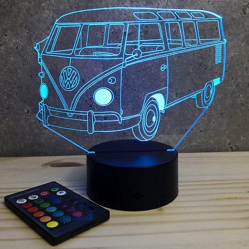 Lampe illusion led 3d vw combi