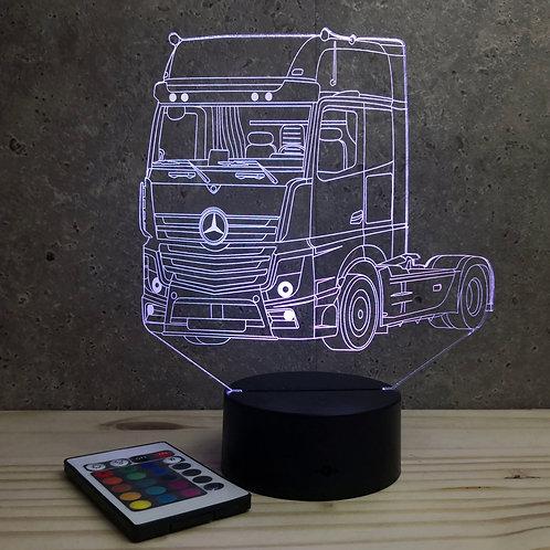 Lampe illusion 3D Camion Mercedes personnalisable 16 couleurs & télécommande