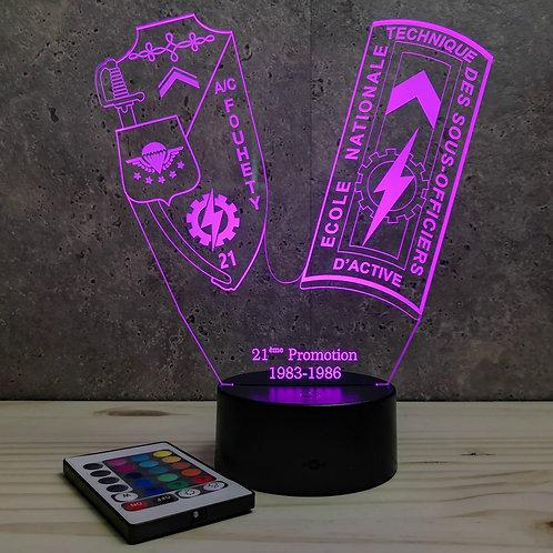Lampe ENTSOA 21ème promo personnalisable 16 couleurs led RGB & télécommande