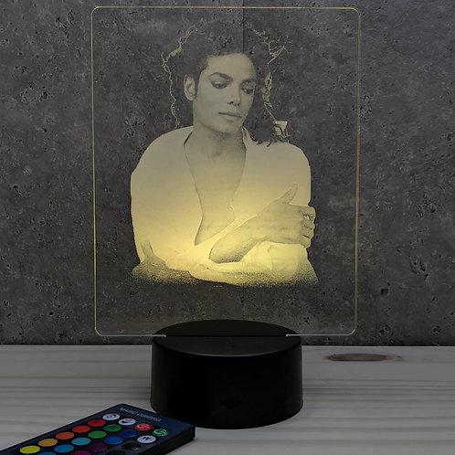 Lampe illusion 3d led Portrait Michael Jackson