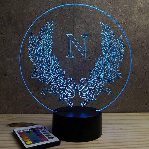 Lampe illusion emblème Napoléon 16 couleurs led RGB & Télécommande