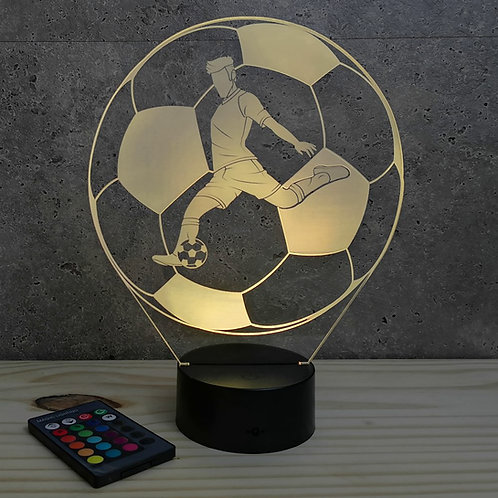 Lampe illusion FootBall Shoot personnalisable 16 couleurs led RGB & télécommande