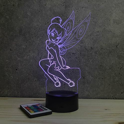 Lampe Fée Clochette personnalisable 16 couleurs led RGB & télécommande