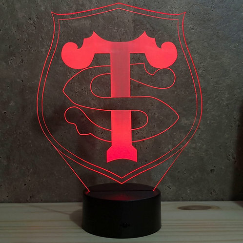 Lampe illusion 3d led Rugby Toulouse stade toulousain