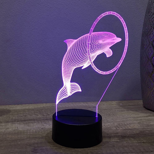 Lampe illusion 3d led Dauphin