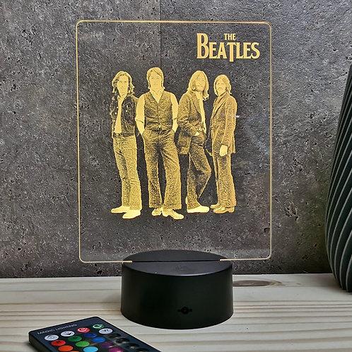 Lampe illusion 3d led portrait The beatles