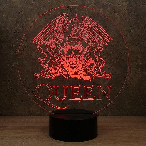 Lampe illusion 3d led Queen