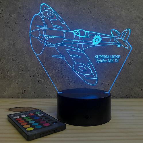 Lampe SpitFire personnalisable 16 couleurs led RGB & télécommande