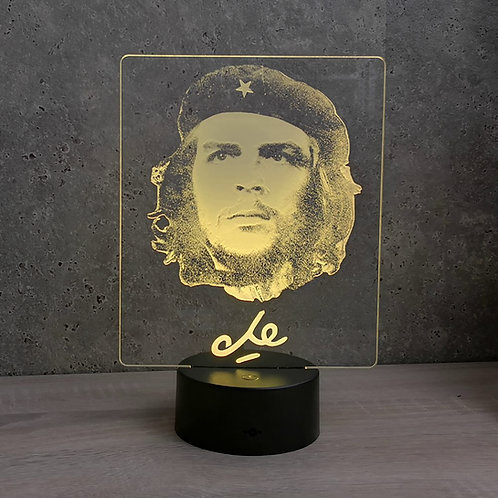 Lampe illusion 3d led Portrait Che Guevara