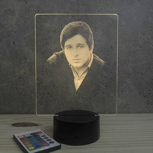 Lampe illusion Richard Anthony personnalisable 16 couleurs led  & télécommande