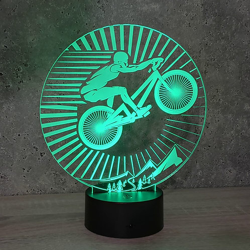 Lampe illusion 3d led VTT Vélo