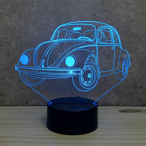Lampe illusion 3d led VW Coccinelle