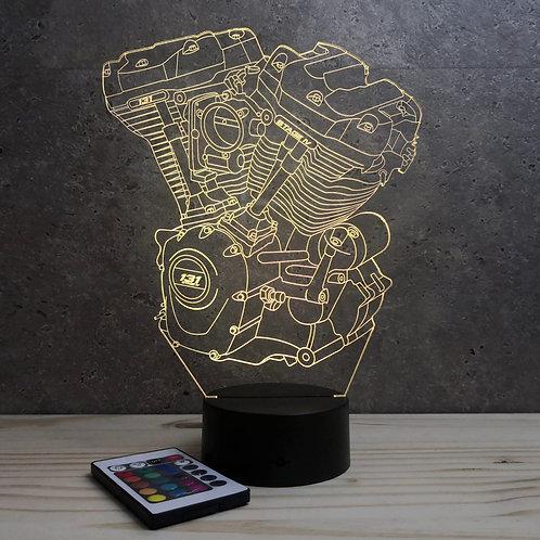 Lampe Moteur Harley personnalisable 16 couleurs led RGB & télécommande