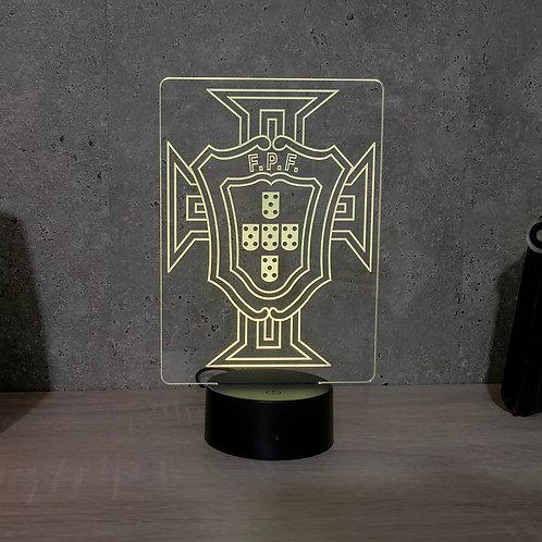 Lampe illusion 3d led Equipe du Portugal