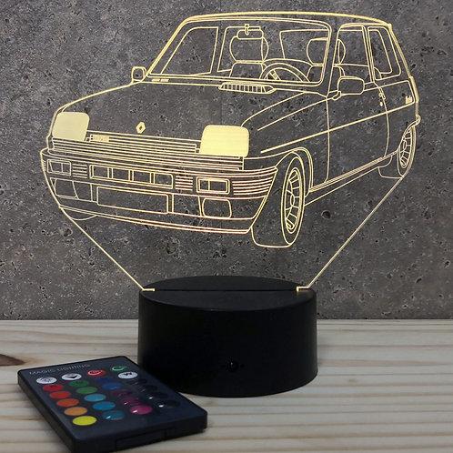 Lampe illusion 3d led Renault R5 Alpine Turbo