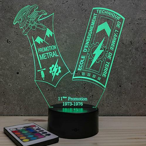 Lampe ENTSOA 11ème promo personnalisable 16 couleurs led RGB & télécommande