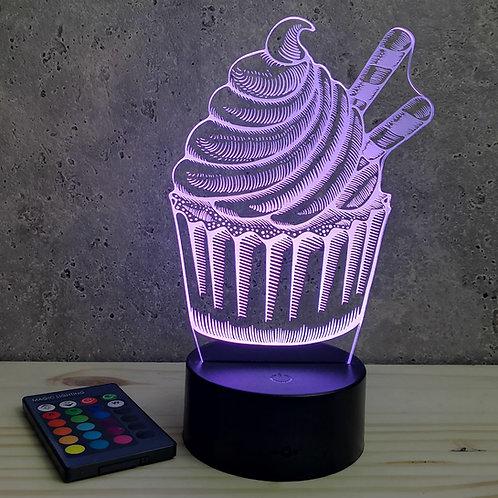 Lampe illusion 3d led CupCake