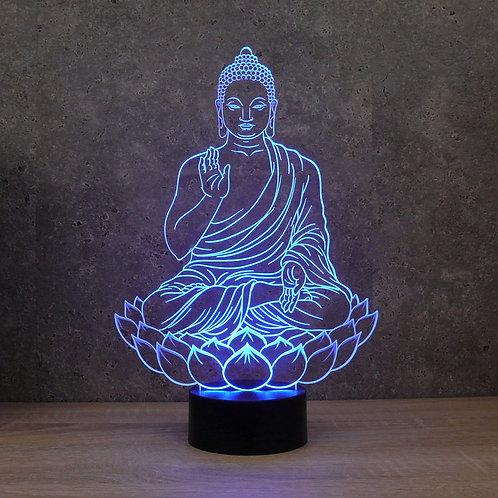 Lampe illusion 3d led Bouddha