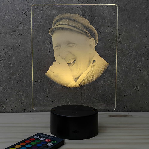 Lampe illusion 3d led portrait Bourvil