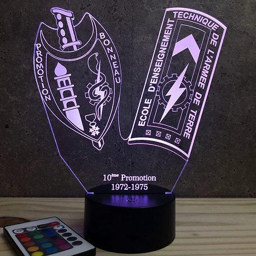 Lampe ENTSOA 10ème promo personnalisable 16 couleurs led RGB & télécommande