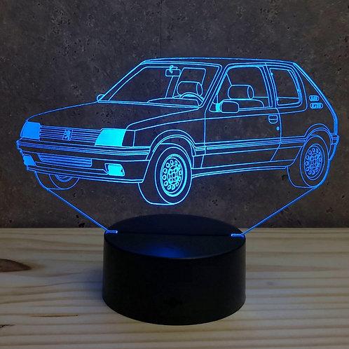 Lampe illusion 3d led Peugeot 205 GTI