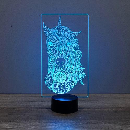 Lampe illusion 3d led Licorne