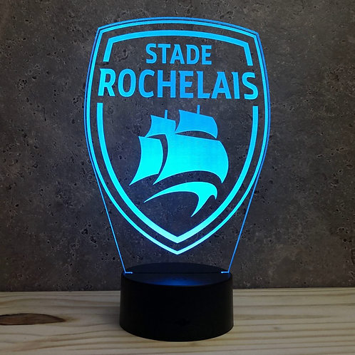 Lampe illusion 3d led Rugby Stade Rochelais