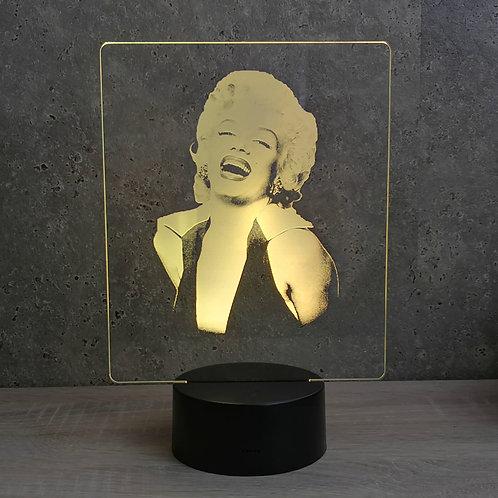 Lampe illusion 3d led Portrait Marilyn Monroe