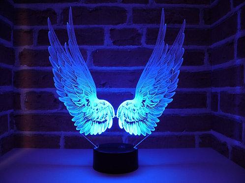 Lampe illusion 3d led Ailes d'ange