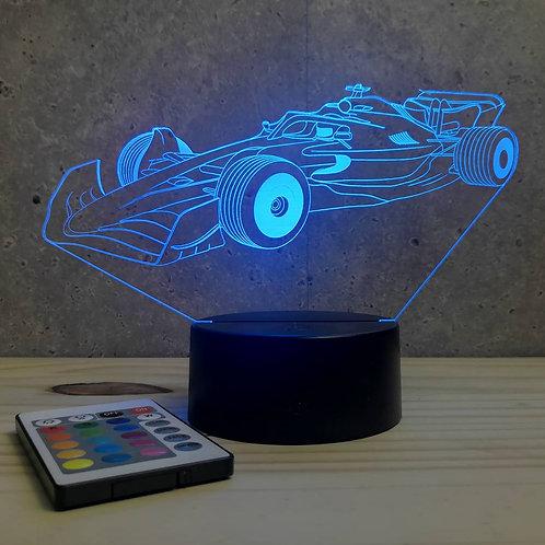 Lampe illusion 3D Formule 1 F1 personnalisable 16 couleurs & télécommande