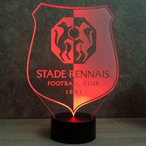 Lampe illusion 3d led Stade Rennais Foot