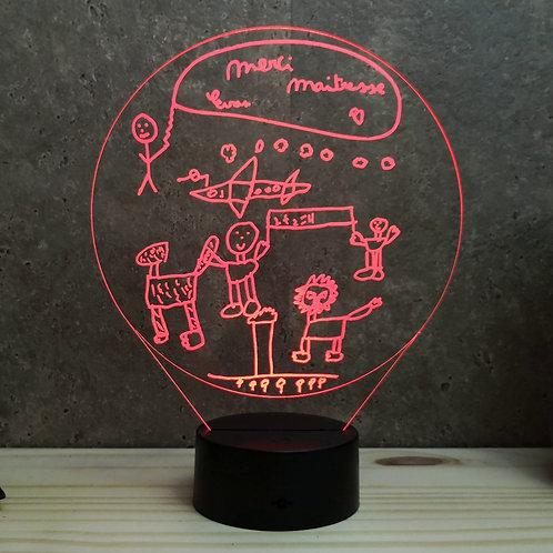 Lampe illusion 3d led Personnalisée